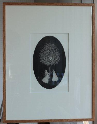 銅版画集《戯》から作品番号6/松崎滋 (銅版画)