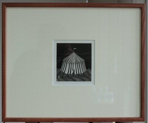 銅版画集《CARNIVAL》〜大きなテント/松崎滋 (銅版画)