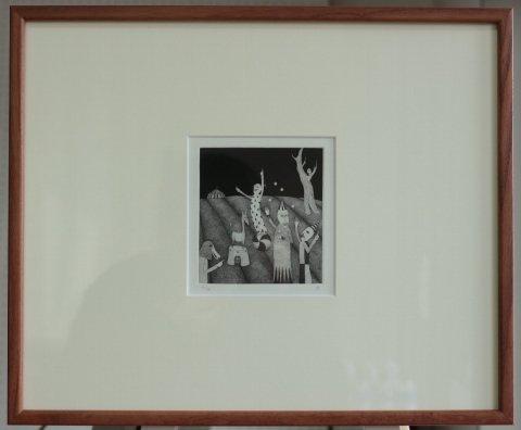 銅版画集《CARNIVAL》〜曲芸師/松崎滋 (銅版画)