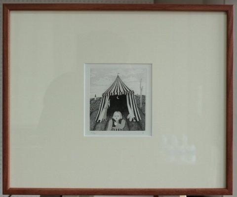 銅版画集《CARNIVAL》〜魔術師のテント/松崎滋 (銅版画)
