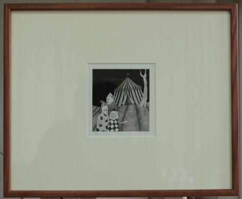銅版画集《CARNIVAL》〜道化師(�)/松崎滋 (銅版画)