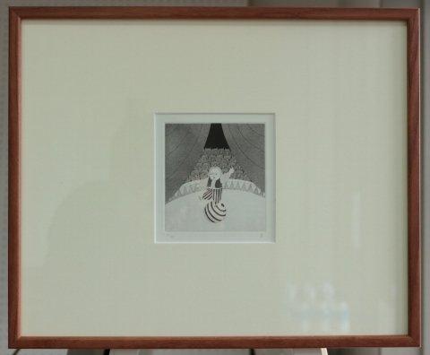 銅版画集《CARNIVAL》〜玉乗り/松崎滋 (銅版画)