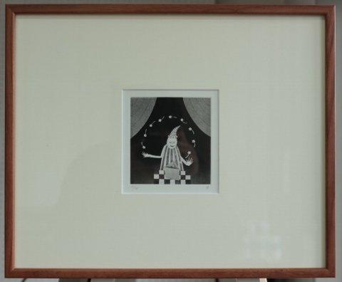 銅版画集《CARNIVAL》〜奇術師/松崎滋 (銅版画)