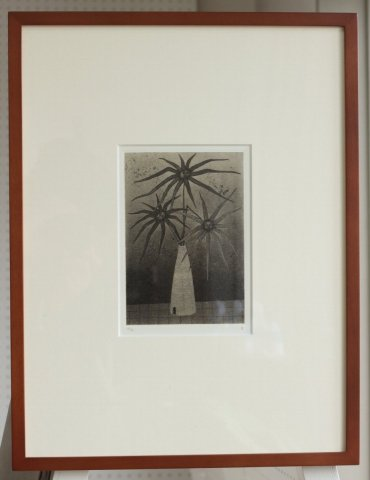 銅版画集《夢草花図》から作品番号2/松崎滋 (銅版画)