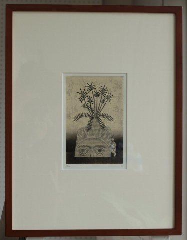 銅版画集《夢草花図》から作品番号5/松崎滋 (銅版画)