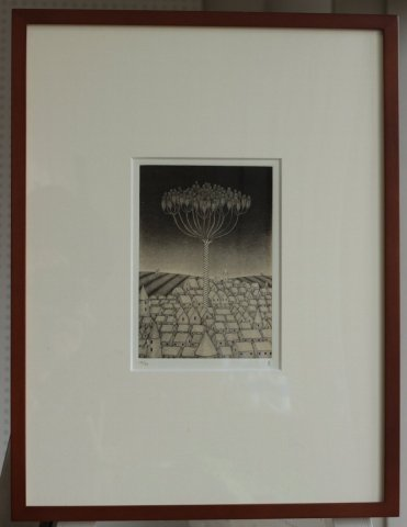 銅版画集《夢草花図》から作品番号6/松崎滋 (銅版画)