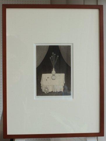 銅版画集《夢草花図》から作品番号8/松崎滋 (銅版画)