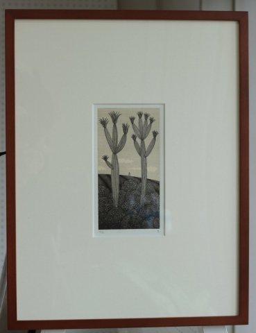 銅版画集《夢草花図》から作品番号10/松崎滋 (銅版画)