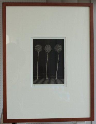 銅版画集《夢草花図》から作品番号12/松崎滋 (銅版画)