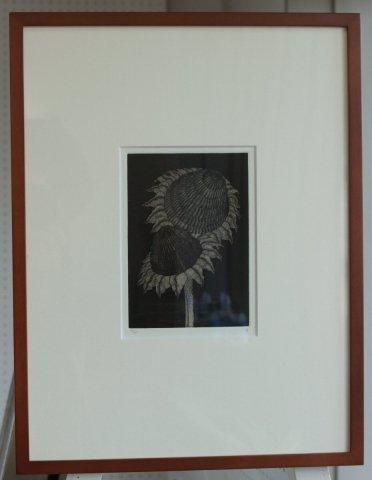 銅版画集《夢草花図》から作品番号14/松崎滋 (銅版画)