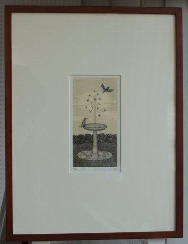 銅版画集《夢草花図》から作品番号15/松崎滋 (銅版画)