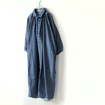 Denim Gran Shirts One Peice -Brocante-
