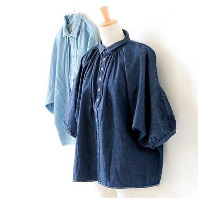 Denim Gran Shirts -Brocante-