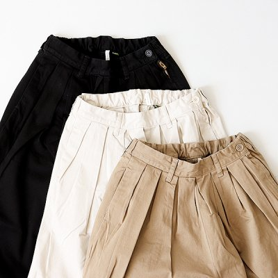 <img class='new_mark_img1' src='https://img.shop-pro.jp/img/new/icons41.gif' style='border:none;display:inline;margin:0px;padding:0px;width:auto;' />【50%OFF】Strech Chino Pleated Pants  -YUiNO-