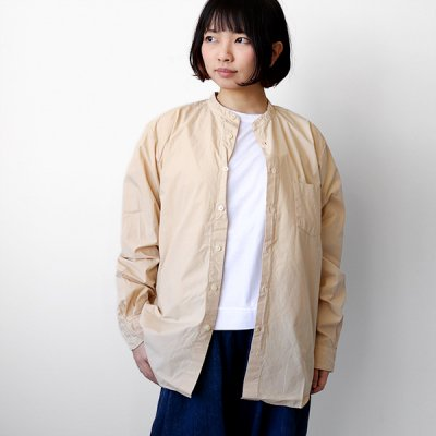 <img class='new_mark_img1' src='https://img.shop-pro.jp/img/new/icons41.gif' style='border:none;display:inline;margin:0px;padding:0px;width:auto;' />【40%OFF】Loose Fit Band Collar Shirt -MANUAL ALPHABET-