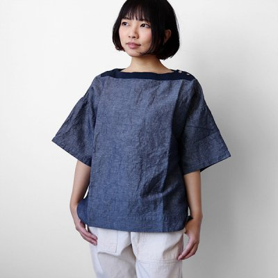<img class='new_mark_img1' src='https://img.shop-pro.jp/img/new/icons41.gif' style='border:none;display:inline;margin:0px;padding:0px;width:auto;' />【20%OFF】Cotton&Linen Pullover Cutsew -FABRIQUE en planete terre-