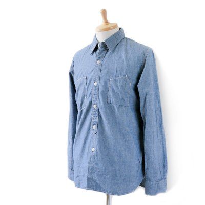<img class='new_mark_img1' src='https://img.shop-pro.jp/img/new/icons41.gif' style='border:none;display:inline;margin:0px;padding:0px;width:auto;' />【30%OFF】Chambray Work Shirt -SPELLBOUND-