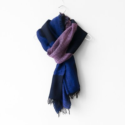 <img class='new_mark_img1' src='https://img.shop-pro.jp/img/new/icons14.gif' style='border:none;display:inline;margin:0px;padding:0px;width:auto;' />Cotton&wool block shawl -有明月K- 0401のハコ (ワタヌキ)