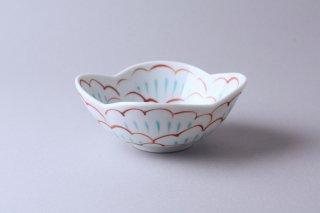 【赤地径】牡丹文木瓜小鉢