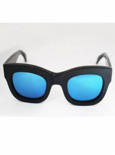 illesteva  HAMILTON BLACK/BLUE MIRRORED LENSES