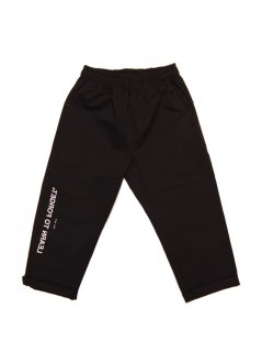 LEARN TO FORGET / LOGO CROPPED CHINO PANTS