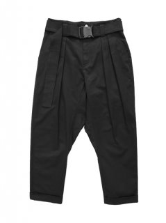 MONOCHROME / GUSSET TROUSERS WITH BELT BLACK 2019 SS
