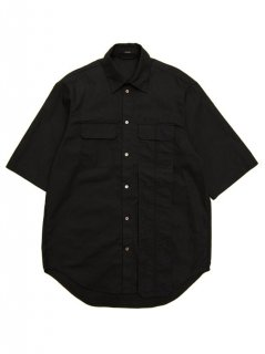 KOMAKINO / DROPPED POCKET SHORT SLEEVE SHIRT (BLACK) SS20-2330-F831 SPRING/SUMMER 2020