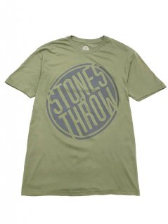 STONES THROW/PENCIL TILTED LOGO(OLIVE)