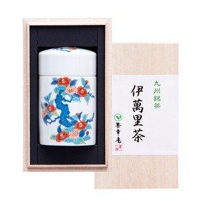 伊万里焼茶筒入り伊萬里茶(木箱入) /茶筒【つばき】