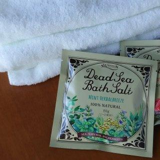 Dead Sea Bath Salt ミネラリア デッドシーバスソルト〈死海の塩〉 ミントハーバルブリーズ