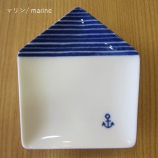 ie 小皿 マリン/ marine 白磁 / miyama
