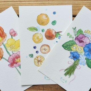 GRASSE TOKYO 香の具 ポストカード/ 果物