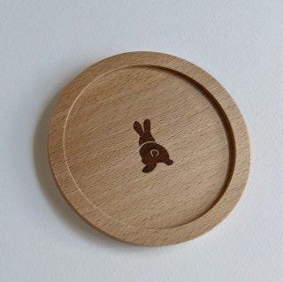 森のコースター うさぎ/木象嵌(もくぞうがん)
