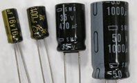 立体電解コンデンサ 耐圧16V・容量1000μF