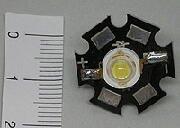 ハイパワーLED3W 3W-SX(電球色・スター放熱板付)
