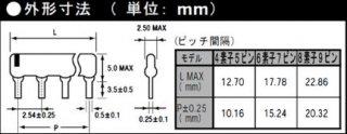 集合抵抗アレー コモン型4素子5ピン(抵抗値E12系列:1KΩ〜8.2KΩ・±5%)