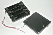 電池ボックス 単3×4 リード線ふた付き スイッチ付き