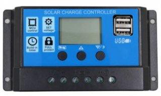 10A・USB出力付ソーラーコントローラー 12V/24V PWMU-10A24