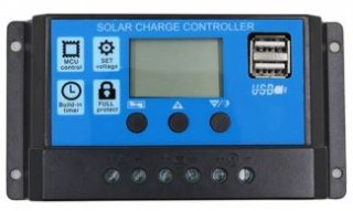 20A・USB出力付ソーラーコントローラー 12V/24V PWMU-20A24