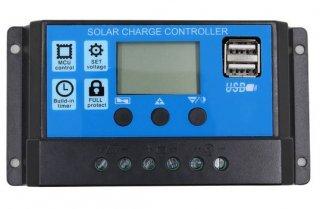 30A・USB出力付ソーラーコントローラー 12V/24V PWMU-30A24