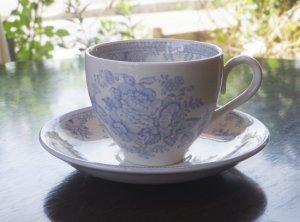 カップ&ソーサー Burleigh Blue Asiatic Pheasants