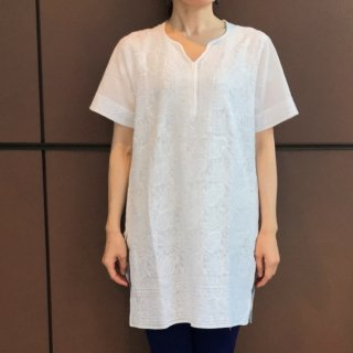 (期間限定15%引き) チカンカリ刺繍チュニック 半袖 S/Mサイズ