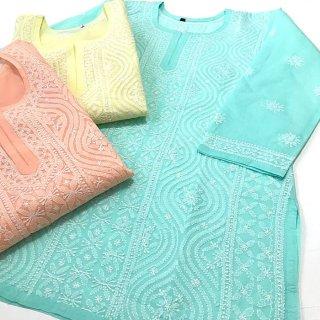 チカンカリ刺繍ミディアムチュニック Lサイズ 3色