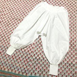 チカンカリ刺繍アラジンパンツ 白