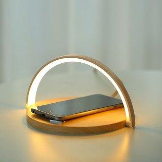 予約 3color ワイヤレス充電機能付き インテリア半円ライト