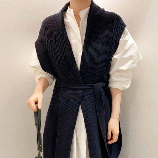 予約 ロングシャツ ワンピース + ニット ロングカーディガン SET