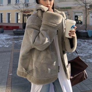予約 3color ムートン ジャケット コート オーバーサイズ