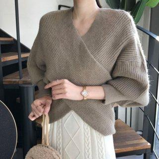 予約 2color ニット カシュクール セーター