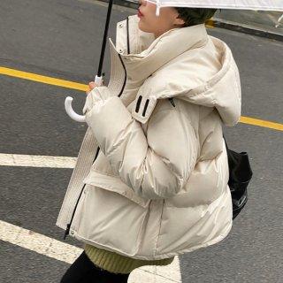 予約 2color オーバーサイズ 中綿 フード コート