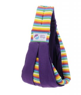 Baba Slings MOT529 Rainbow Purple